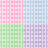 Harlequin Seamless Patterns, Pastels Royalty Free Stock Images