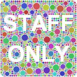 Harlequin Staff Only Mosaic Royalty Free Stock Images