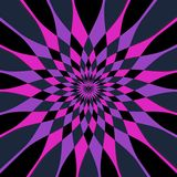 Harlequin star. A beautiful kaleidoscope image in lilac and shocking pink Stock Image