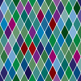 Harlequine Esmerald seamless pattern Stock Photos