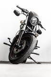 黑harley摩托车 免版税库存照片