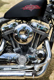 Harley-μηχανή Στοκ φωτογραφία με δικαίωμα ελεύθερης χρήσης
