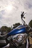 Harley и небо Стоковые Фото