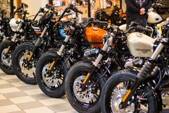 Harley Davidson Â«Otwartego domu wydarzenie Â«w WÅ'ochy: Sportster model obrazy royalty free
