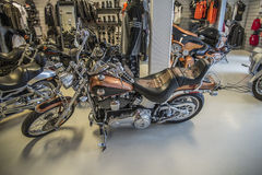 2008 Harley-Davidson, συνήθεια Softail Στοκ Φωτογραφία