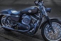 Harley Davidson на улице в Майами стоковое фото