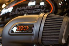 Harley Davidson 'Opendeurdaggebeurtenis 'in Italië, nieuwe FXDR 114 royalty-vrije stock foto's