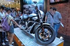 Harley Davidson Bewegungspavillion Stockfotos