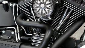 Harley Davidson bij automobiel-show stock footage