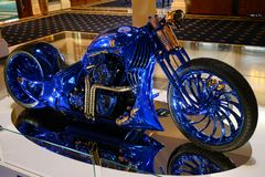 Harley-Davidson Blue Edition, the most expensive motorbike in the world royalty free stock photography
