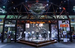 The Harley Davidson booth at The 37th Bangkok International Motor Show Stock Images