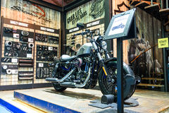 The Harley Davidson booth at The 37th Bangkok International Motor Show Royalty Free Stock Photography