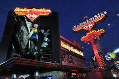 Harley Davidson Cafe in Las Vegas Stock Photos