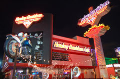 Harley Davidson Cafe in Las Vegas Stock Images