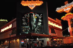 Harley Davidson cafe in Las Vegas Royalty Free Stock Photo