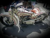 Nice old bike on show royalty free stock photography
