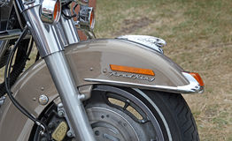 Harley davidson chrome parts Royalty Free Stock Photo