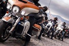 Harley davidson convoy. Royalty Free Stock Photos