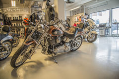 2008 Harley-Davidson, costume de Softail Imagem de Stock