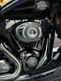 Harley Davidson Cruiser Motorbike Stock Image