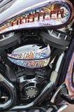 Harley Davidson custom-built motorcycle Royalty Free Stock Image