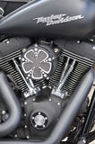 Harley Davidson custom-built motorcycle Royalty Free Stock Photos