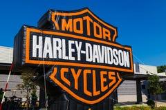 Harley Davidson Cycles Logo Sign Royaltyfri Bild