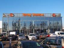 Harley Davidson dealership building Stock Image