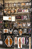 Harley Davidson decals. Decals for sale at the  Harley Davidson motorcycle store Royalty Free Stock Images