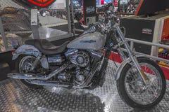 Harley - Davidson DYNA Super Glide Custom Motorcycle royalty-vrije stock foto