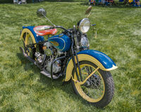 1936 Harley Davidson EL, σχέδιο EyesOn, MI Στοκ φωτογραφία με δικαίωμα ελεύθερης χρήσης