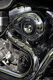 Harley Davidson Engine Stock Photo