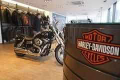 Harley Davidson Erscheinen-Raum lizenzfreie stockfotos