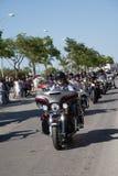 Harley Davidson European Rally-Straßen-Parade 2015 Stockbild
