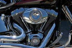 Harley Davidson Fatboy silnik Obraz Royalty Free