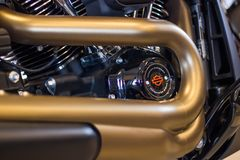 Harley Davidson FXDR 114 winth Milwaukee 8 Wzorcowy silnik zdjęcia stock