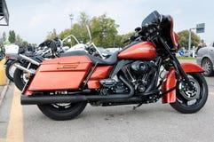 Harley Davidson gataglidljud 103 Arkivfoto