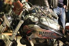 Harley-Davidson hand-made restyled closeup Royalty Free Stock Image