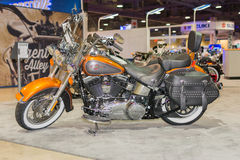 Harley-Davidson Heritage Softail Classic Motorcycle 2015 Royalty-vrije Stock Foto's