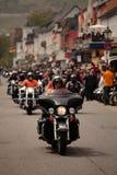 Harley Davidson kawalkada samochodów Zdjęcie Royalty Free