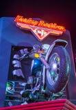 Harley Davidson kawiarnia Zdjęcia Royalty Free