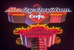 Harley Davidson kawiarnia Zdjęcie Royalty Free