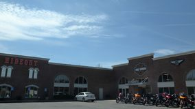 Harley Davidson lager i Joplin, Missouri fotografering för bildbyråer