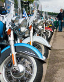 Harley Davidson line up Royalty Free Stock Images