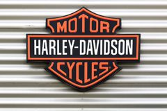 Harley-Davidson Logo On A Wall Royalty Free Stock Photography