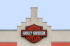 Harley-Davidson logo on a store Stock Image