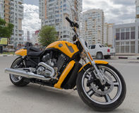 Harley Davidson mięsień Novorossiysk Rosja 13 05 2017 Obrazy Royalty Free