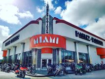 Harley Davidson Miami Royalty Free Stock Images
