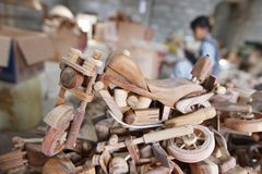 Harley davidson miniature craft Stock Image