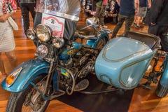 1939 Harley Davidson Mode. L U with side car stock photos